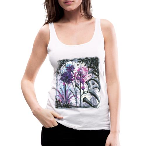 Crazy Flowers - Frauen Premium Tank Top