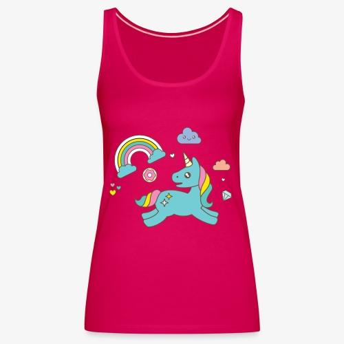 colored unicorn - Women's Premium Tank Top