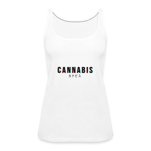 CANNABIS - Tank top damski Premium