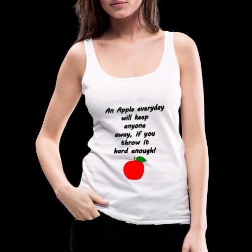 Apple Apfel Doctor Zitat Spruch Lustig - Frauen Premium Tank Top