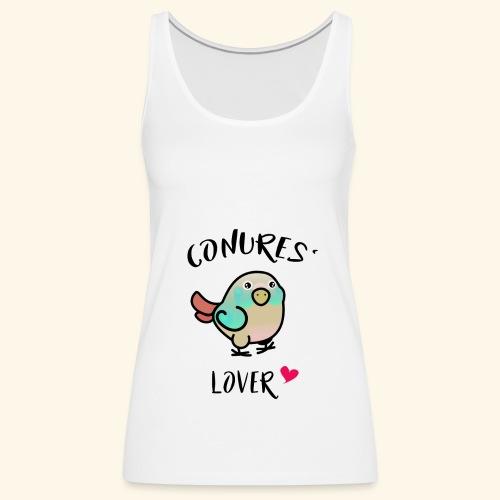 Conures' Lover: blue cinamon - Débardeur Premium Femme