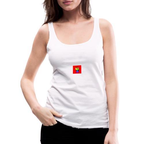 Lgbt Faust Protest roter Hintergrund - Frauen Premium Tank Top