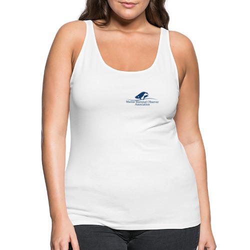 MMOA Logo Blue Marine Fauna Observer on back - Women's Premium Tank Top