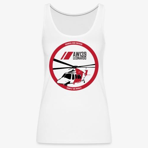 AW139 SAR Diseño Frontal - Camiseta de tirantes premium mujer