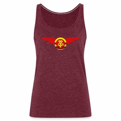 GDR flames crest 3c - Women's Premium Tank Top