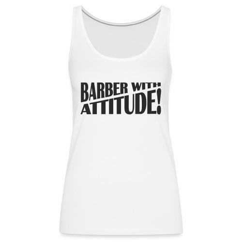Barber T-Shirt logo 6 - Women's Premium Tank Top