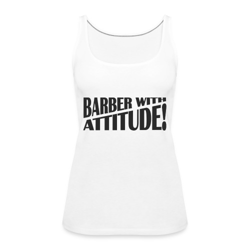 Barber T-Shirt logo 6 - Women's Premium Tank Top
