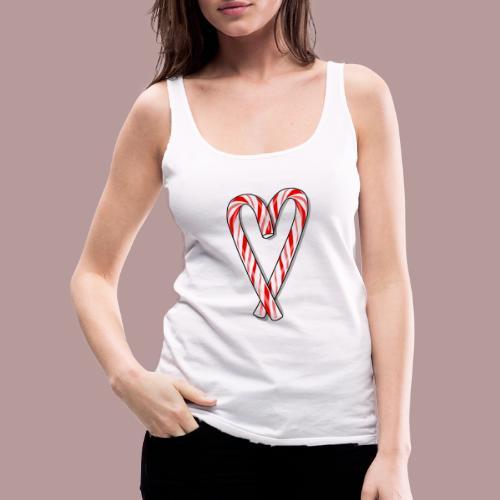 Sucre d'orge en forme de coeur - Débardeur Premium Femme