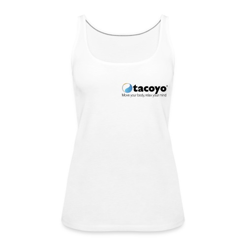 Borstlogo ZWART inclusief move your body - Vrouwen Premium tank top