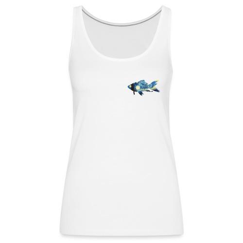 Pez estampado cuadro La noche estrellada - Camiseta de tirantes premium mujer