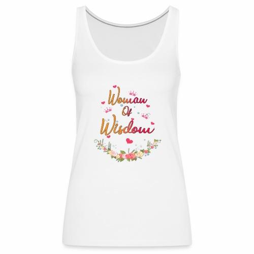 women of wisdom - white - Women's Premium Tank Top