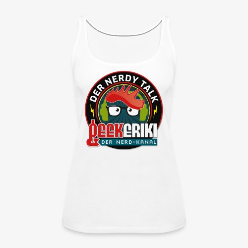 Nerdy Talk - Button - Frauen Premium Tank Top