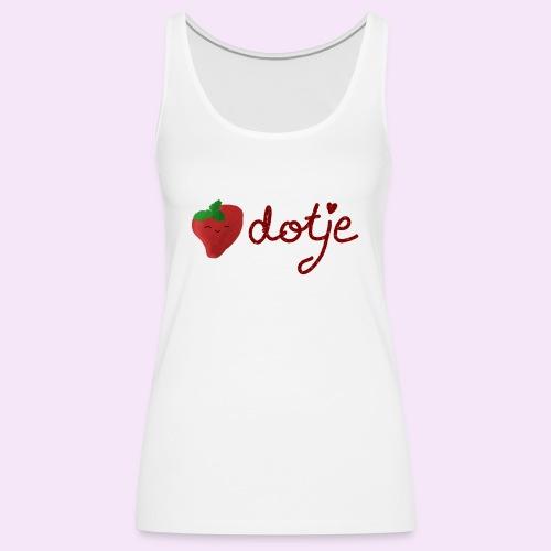 Baby aardbei Dotje - cute - Vrouwen Premium tank top