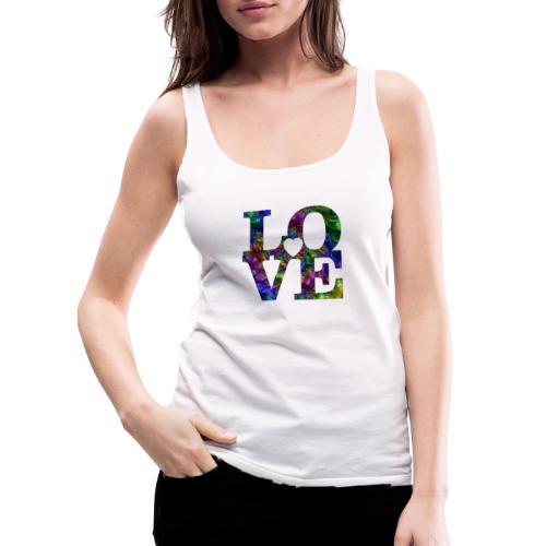 Love Fractale - Débardeur Premium Femme