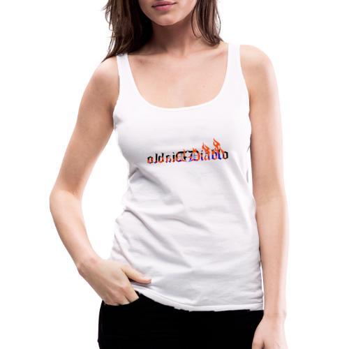 Diablo llamas Letras Goticas tatto - Camiseta de tirantes premium mujer