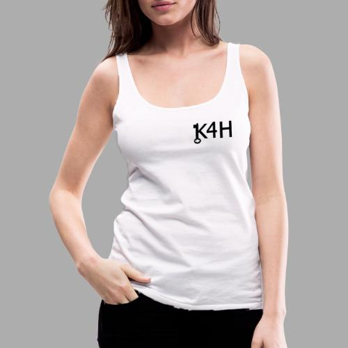 K4HText2Black - Premiumtanktopp dam