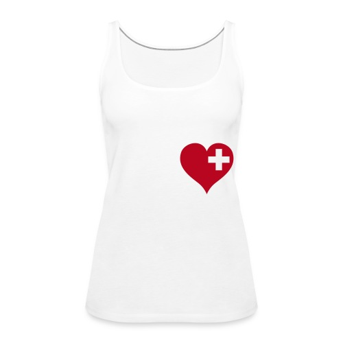 swiss heart red - Frauen Premium Tank Top