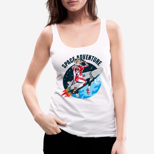 space adventure rocket girl - Frauen Premium Tank Top