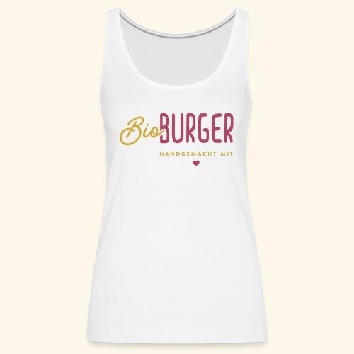BIO BURGER - Logo Querformat - Frauen Premium Tank Top