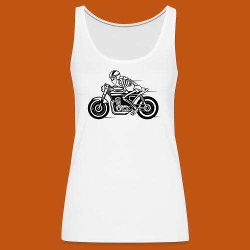Cafe Racer Motorrad 05_schwarz - Frauen Premium Tank Top