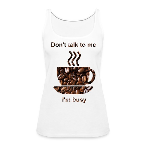 kahvi - Naisten premium hihaton toppi