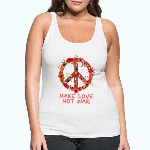Hippie flowers peace - Women's Premium Tank Top
