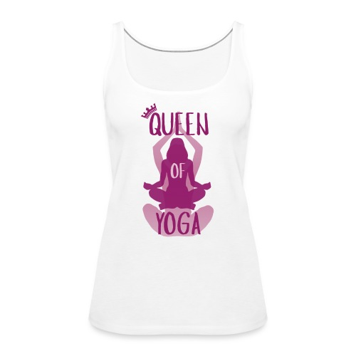 Queen of yoga - Frauen Premium Tank Top