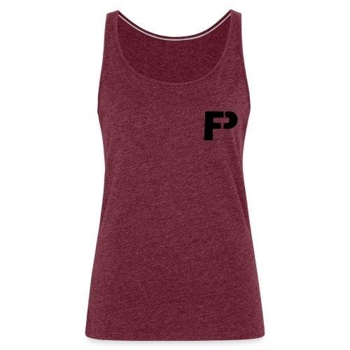 logo bij borst - Vrouwen Premium tank top
