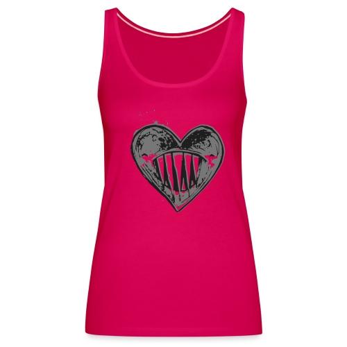 Corazón Negro - Camiseta de tirantes premium mujer