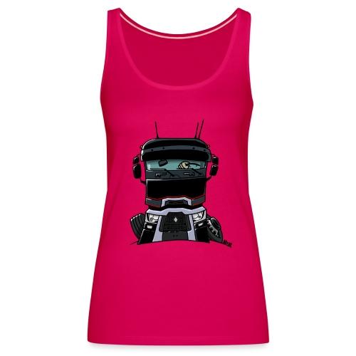 0813 R truck zwart - Vrouwen Premium tank top