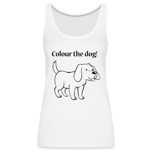Colour the dog! - Women's Premium Tank Top