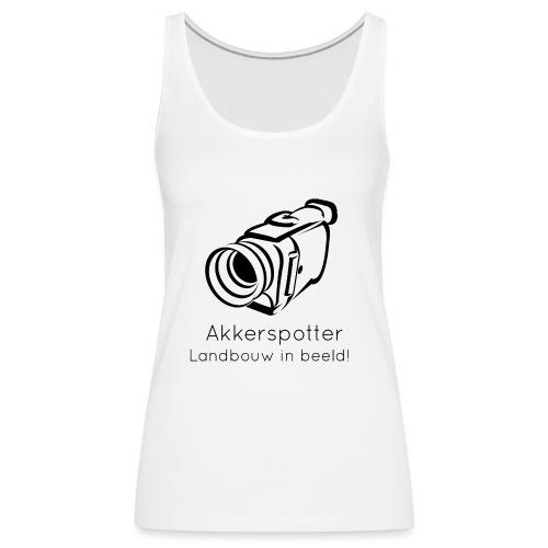 Logo akkerspotter - Vrouwen Premium tank top