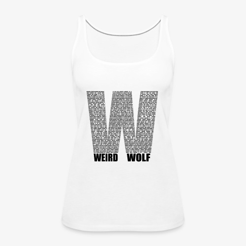 The Big W (Black) - Women's Premium Tank Top