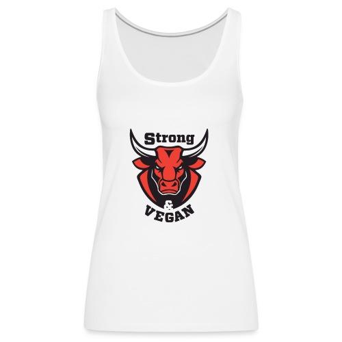 Strong and VEGAN - Women's Premium Tank Top