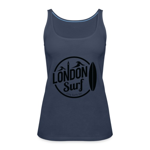 London Surf - Black - Women's Premium Tank Top