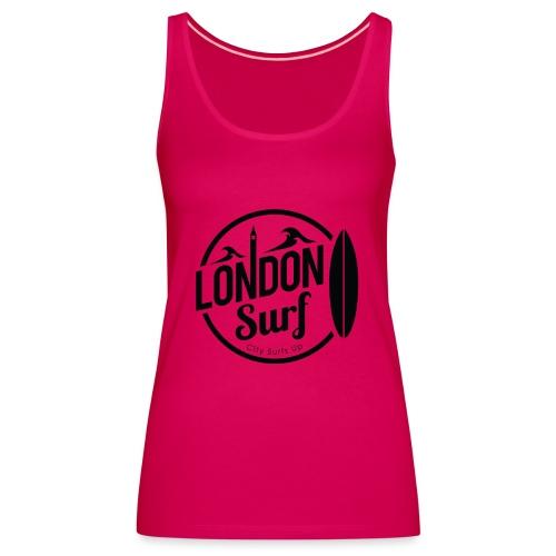 London Surf - Black - Women's Premium Tank Top