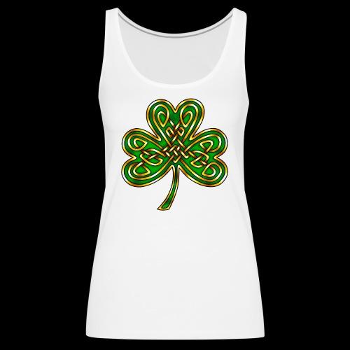 Celtic Knotwork Shamrock - Women's Premium Tank Top