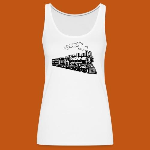 Lokomotive / Locomotive 02_schwarz - Frauen Premium Tank Top