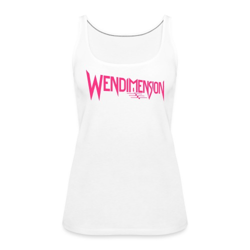 wendimension logo - Naisten premium hihaton toppi