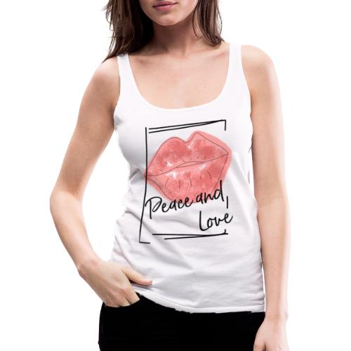 PEACE AND LOVE - Frauen Premium Tank Top
