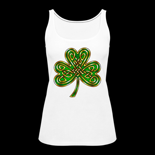 Celtic Knotwork Shamrock - Women's Premium Tank Top