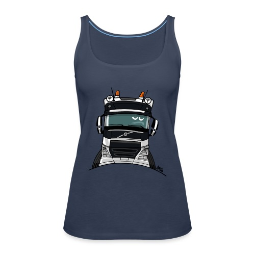 0488 V truck wit - Vrouwen Premium tank top