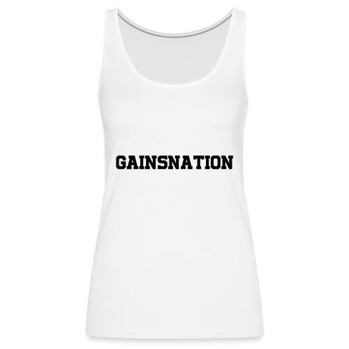 Kortärmad tröja Gainsnation - Premiumtanktopp dam