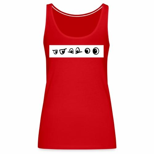 graffiti caracter augen - Frauen Premium Tank Top