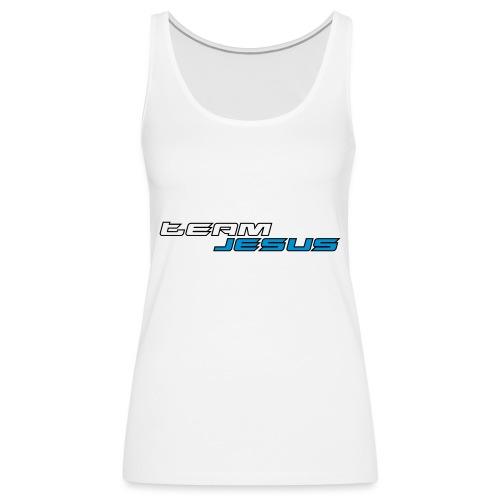 Team Jesus Racing Sport Logo White Blue - Tank top damski Premium