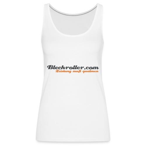 blechroller logo - Frauen Premium Tank Top