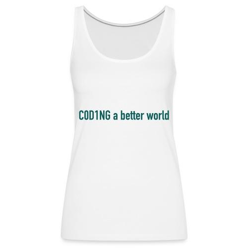 C0D1ING - Vrouwen Premium tank top