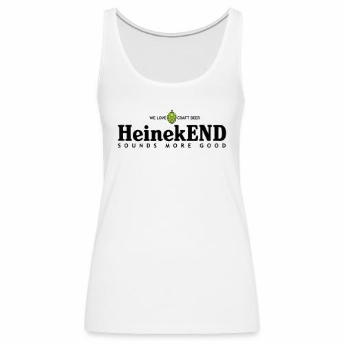 HeinekEND scritta nera - Canotta premium da donna