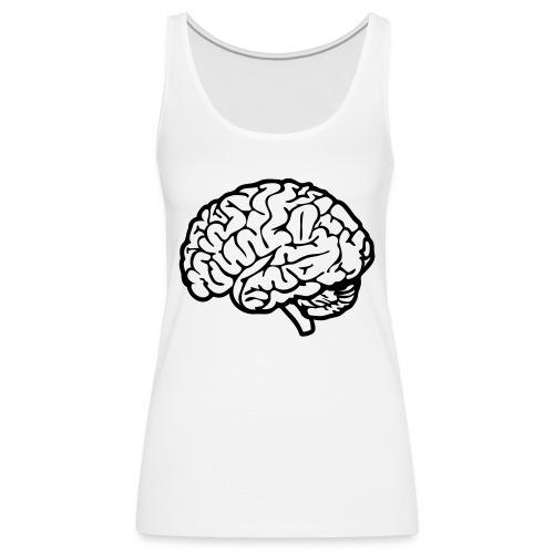 cerveau - Débardeur Premium Femme