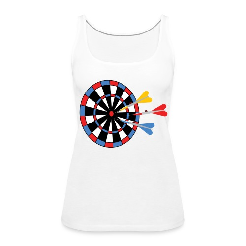 Dartboard with Darts - Vrouwen Premium tank top